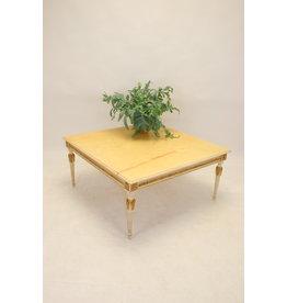 Italian marble coffee table 1960, 100 x 100 cm