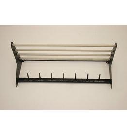 Vintage Pilastro wall coat rack metal black gray