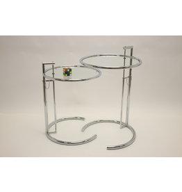Eileen Gray Chrome Bijzet tafel hoogte verstelbaar