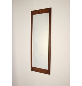 Palissander hout minimalistische vintage spiegel