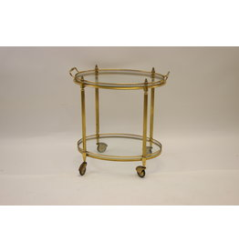 Maison Jansen Paris Golden Drinks trolley 1950