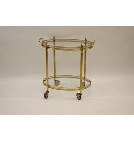 Maison Jansen Paris Gouden Drinks trolley 1950