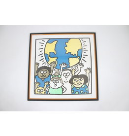 Zeefdruk van Keith Haring Kids of the World 1985