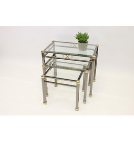 nest side tables Tables Miniset Gold and silver Eicholtz Lindon