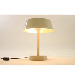 Wit tafel lampje van metaal