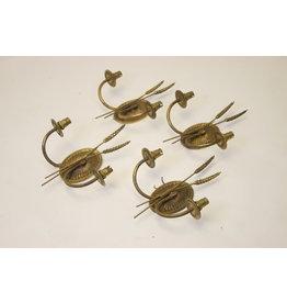 set van vier franse Maison Jansen parijs Gouden wandlampjes