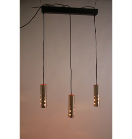 space age Hanglamp met 3 licht punten aluminium