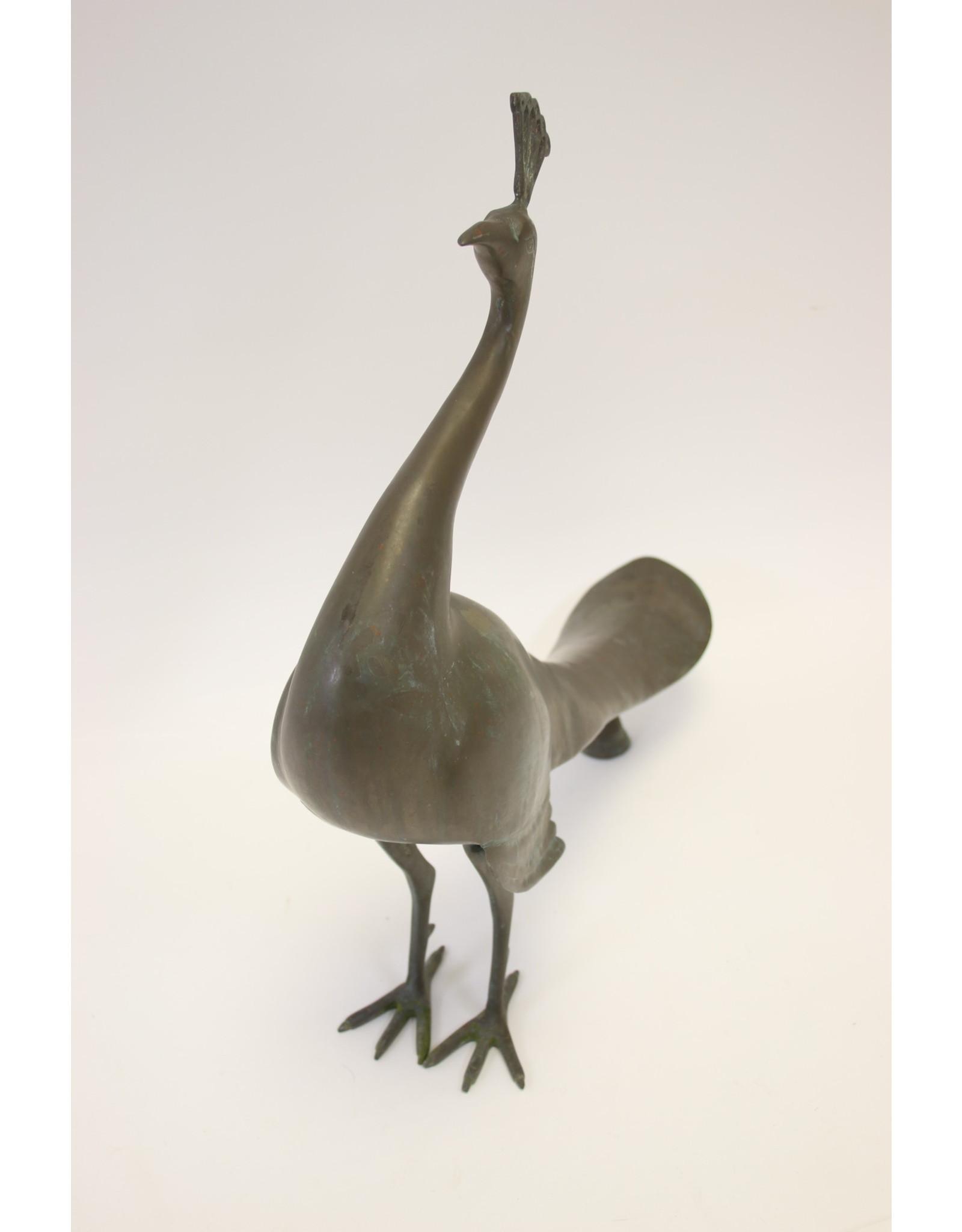 Vintage bronzen Pauw