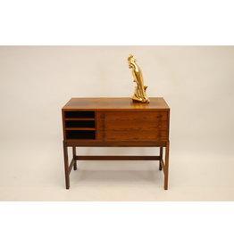 Scandinavische Pallisander houten  ladekastje tv meubel wandkast