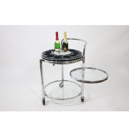 space age trolley with bar platform