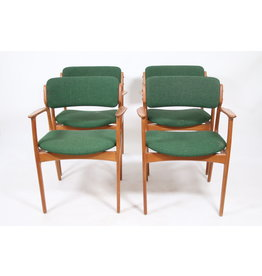 Erik Buch for O.D. Mobler eetkamerstoelen model 49 (set van vier)