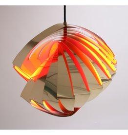 Deense Konkylie Space age Hanglamp by Louis wiesdorf 1962