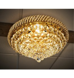 Christoph Palme chandelier gold with crystal glass balls