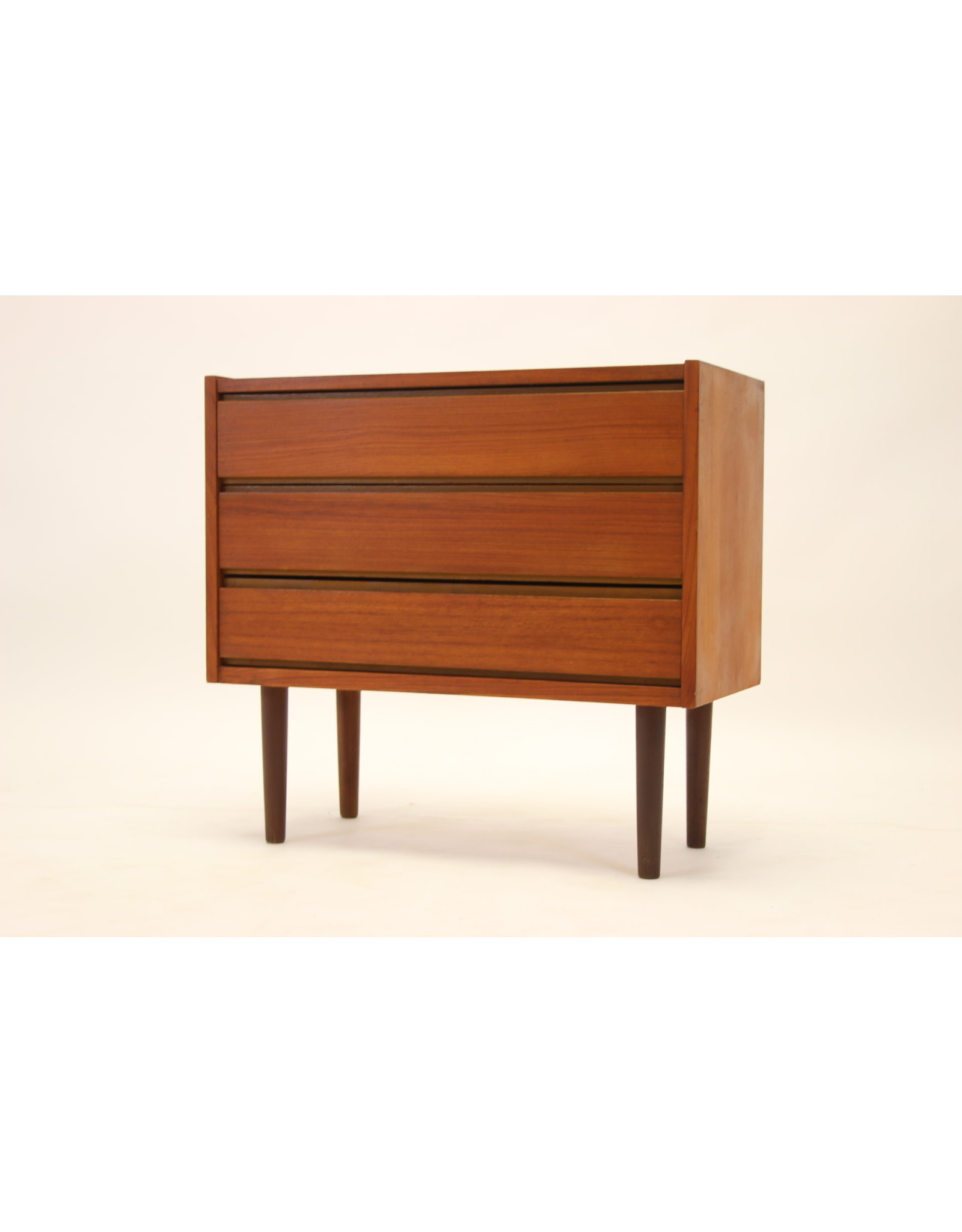 Danish Teak three drawers sideboard 1960's