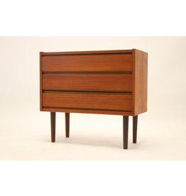 Danish Teak three drawers sideboard 1960's