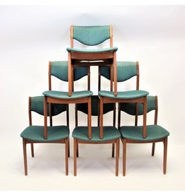 Danish dining table chairs set of 2