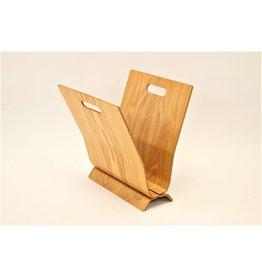 creton maison magazine rack vintage curved wood