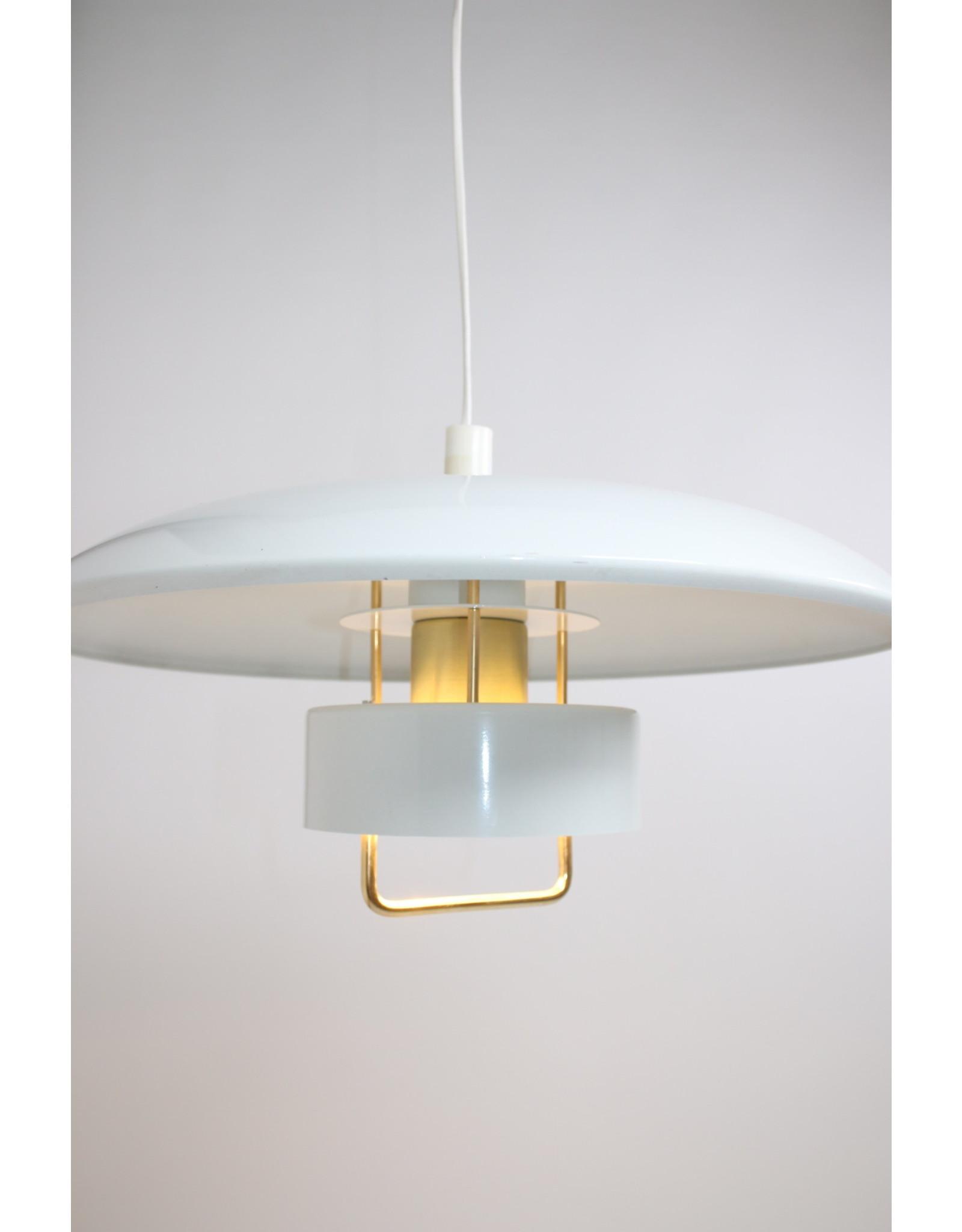 metalen hanglamp wit gelakt