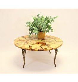 Marmer Ronden epoxy salontafel 1960's