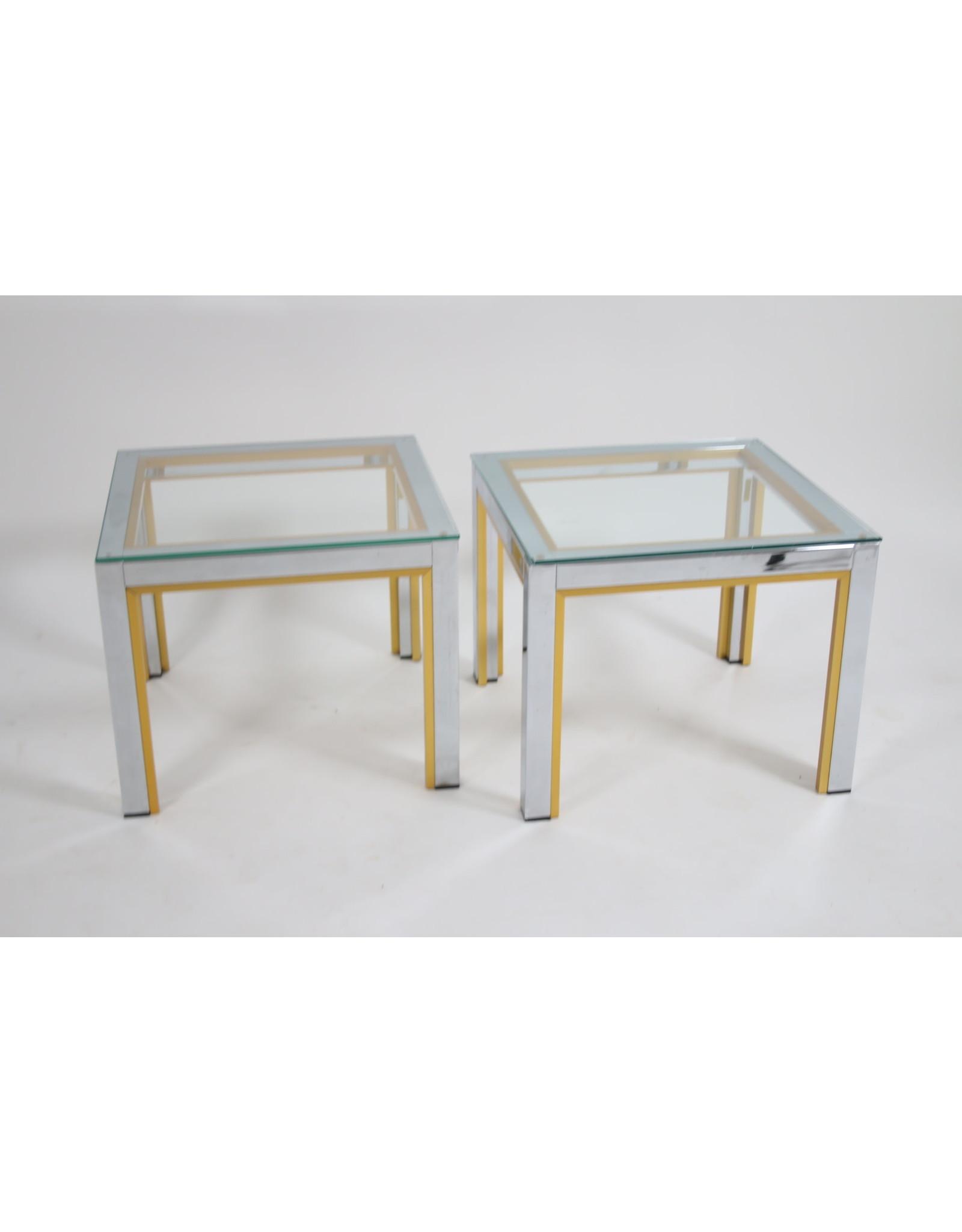 Renato Zevi bijzettafeltjes set italiaans design