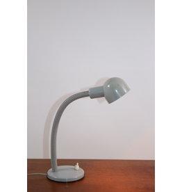Vintage Grijzen Bureau lampje met flex nek