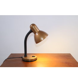 Bureaulampje goud/bruin