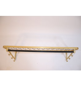 Vintage wall coat rack with hooks & braided hat rack, 1960s