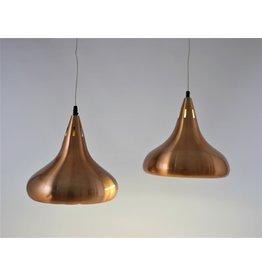 Deense koperen hanglampen set