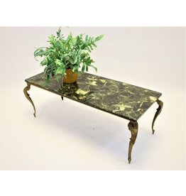Green marble epoxy coffee table 50 years