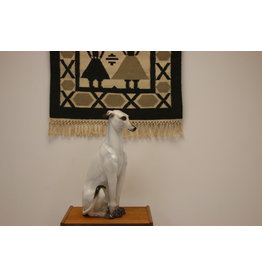 Italian Vintage Ceramic Haze Greyhound
