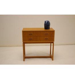 Swedish design beech chest of drawers
