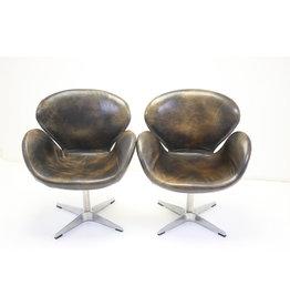 Swan Armchair na Ontwerp Van Arne Jacobsen