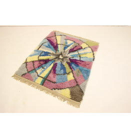 Vintage Wolle vloerkleed Ryamatta, Zweden 1960-70