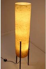 Grote Gele Raket vloerlamp met Glasfiberkap