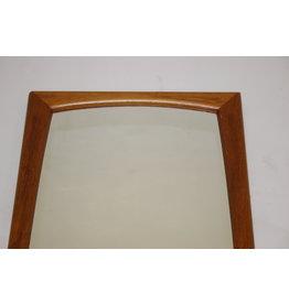 Grote Teak houten rechthoekige  spiegel