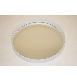 Prachtige ronde spiegel met witte rand