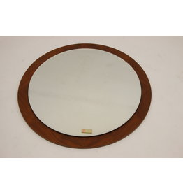 Grote Ronden Scandinavische spiegel 70 cm Teak houten rand