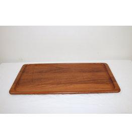 Narrow teak tray made of digsmed denmark