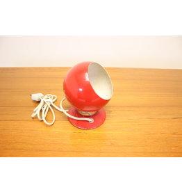 Rode Bol Magneet Lampje met zwarte voet