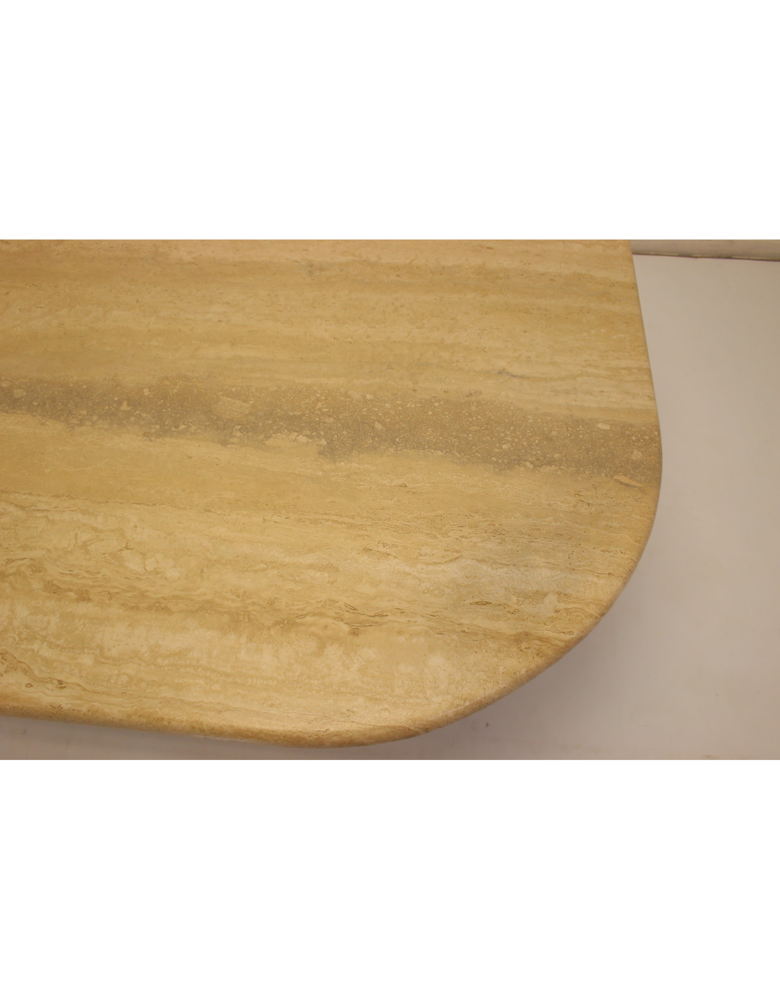 Franse Travertine marmeren Design Salon tafel 1960's
