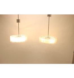 2 ijshang lampen Doria Leuchter zilver 40 cm