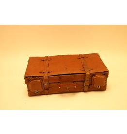 Old leather English suitcase