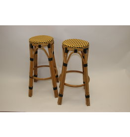 Bamboo bar stool set of two