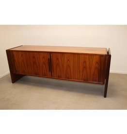 Rosewood sideboard with roller doors brand dyrlund, 1960s