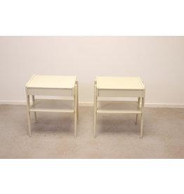 2 nachtkastjes wit van Carlstrom & Co Mobelfabriek,19 60s