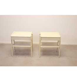 Set of bedside tables white by Carlstrom & Co Mobelfabriek, 19 60s