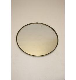 Grote ronde chrome spiegel jaren60