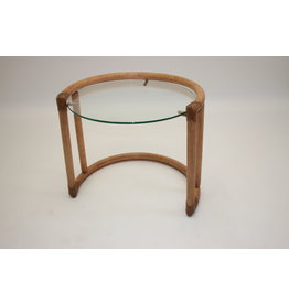 Round bamboo coffee table or side table
