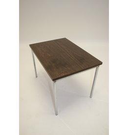 Side table rosewood veneer with chrome legs