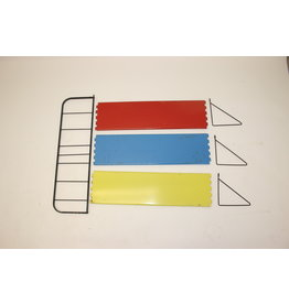 Pilastro wall rack yellow blue red